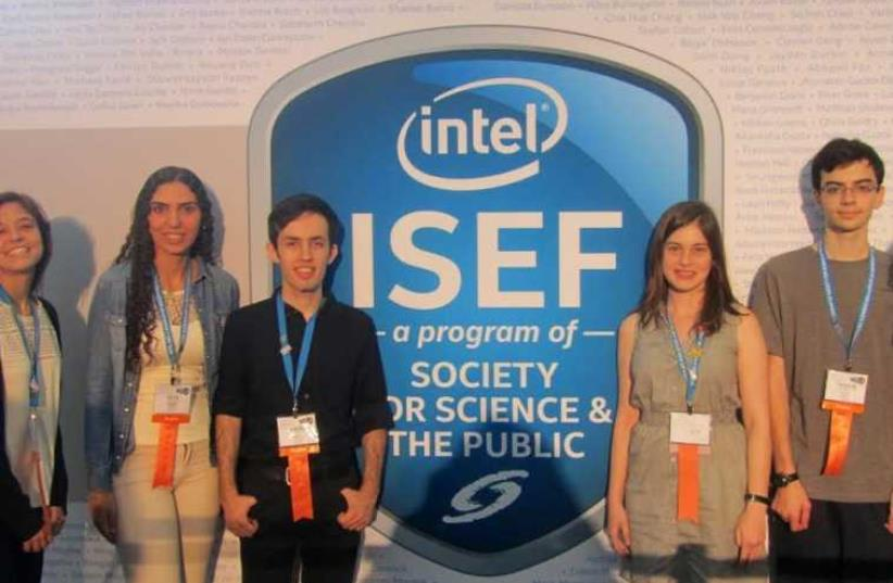 Intel young scientists  (photo credit: RITA GILAD FOR BLOOMFIELD SCIENCE MUSEUM)