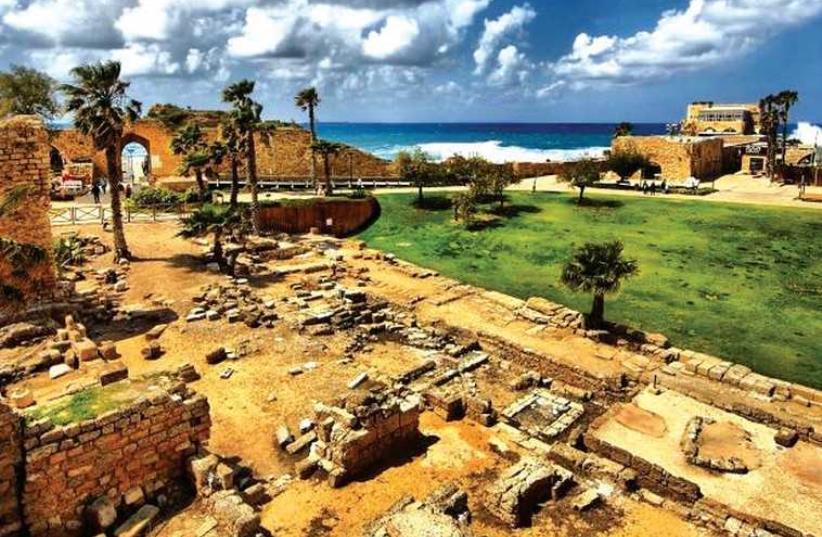 The Caesarea National Park (photo credit: SAGI MORAN)