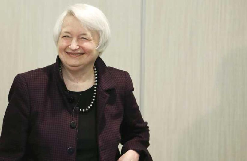 Janet Yellen (photo credit: REUTERS)