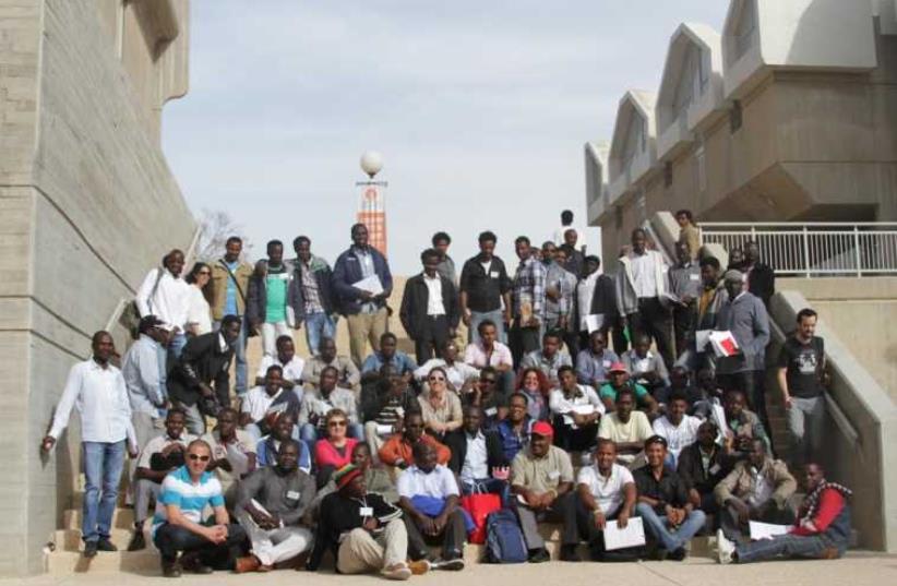 Refugees and asylum seekers at academic program at BGU  (photo credit: LIHED ADAM)