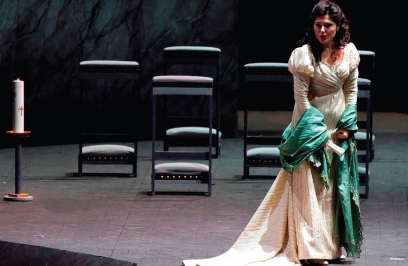 The Opera Festival in Masada. Svetlana Vassileva in Tosca. (photo credit: RAMELLA)