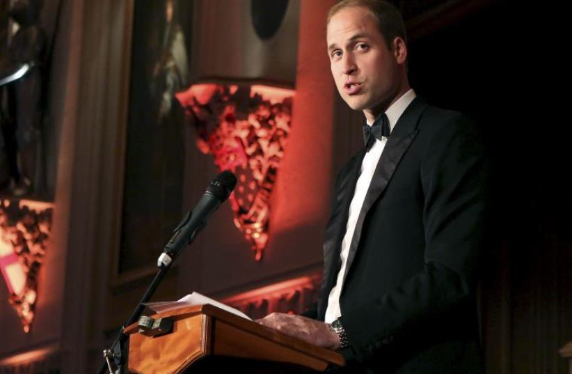 Britain's Prince William speaks at a reception at Windsor Castle, Britain May 21, 2015.  (photo credit: REUTERS)