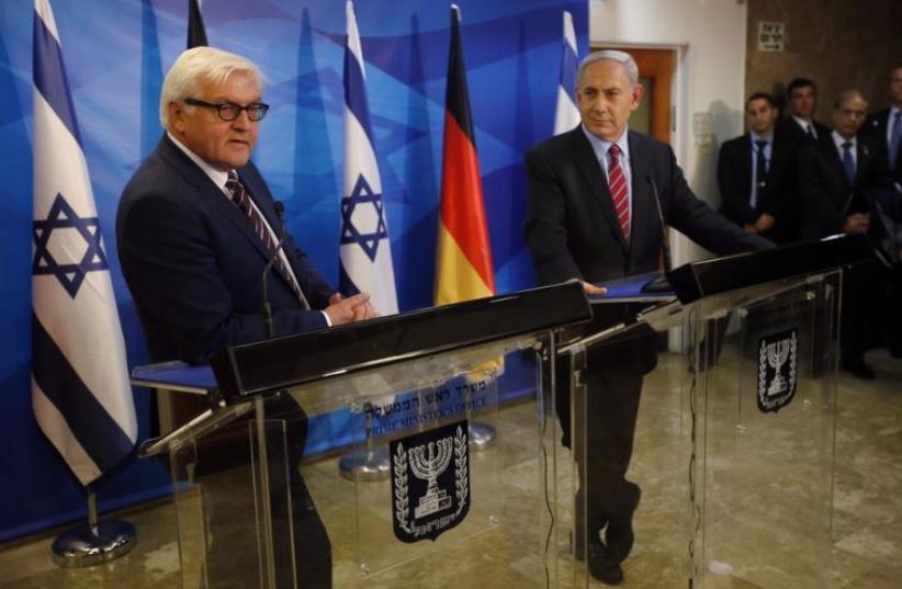 Benjamin Netanyahu and Frank-Walter Steinmeier in November 2014 (photo credit: REUTERS)
