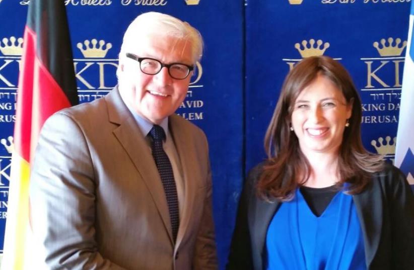 German FM Frank-Walter Steinmeier and Deputy FM Tzipi Hotovely (photo credit: DANA SOMBERG)