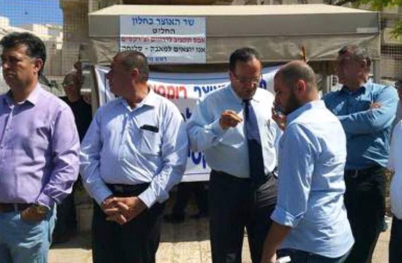 Druse protest in Jerusalem (photo credit: Ariel Ben Solomon)