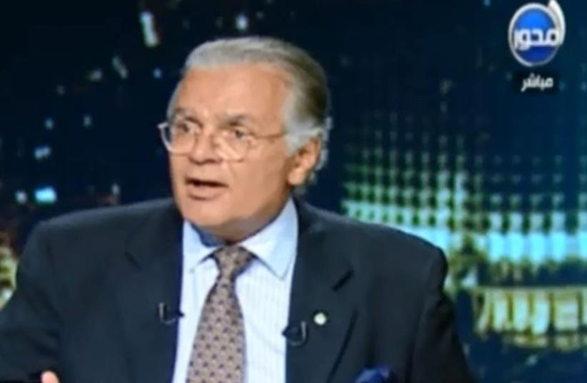 Egyptian historian Maged Farag interviews on Egyptian Mehwar TV (photo credit: SCREENSHOT/MEMRI)