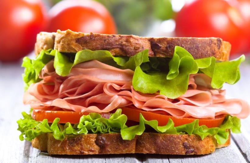 Ham sandwich (photo credit: INGIMAGE)