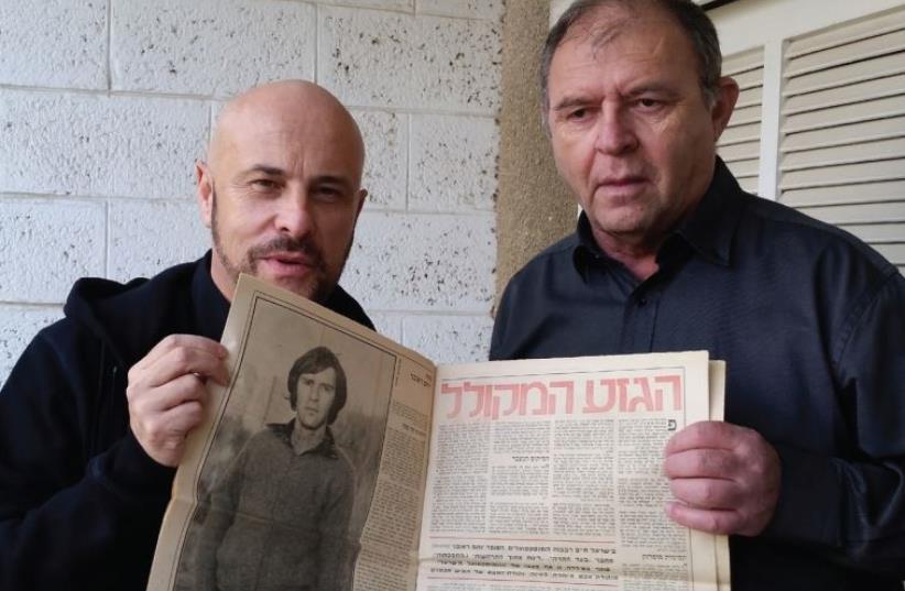 Yotam Hareuveni (Right) with screen savors the program's host Yoav Ginai. (photo credit: PR)