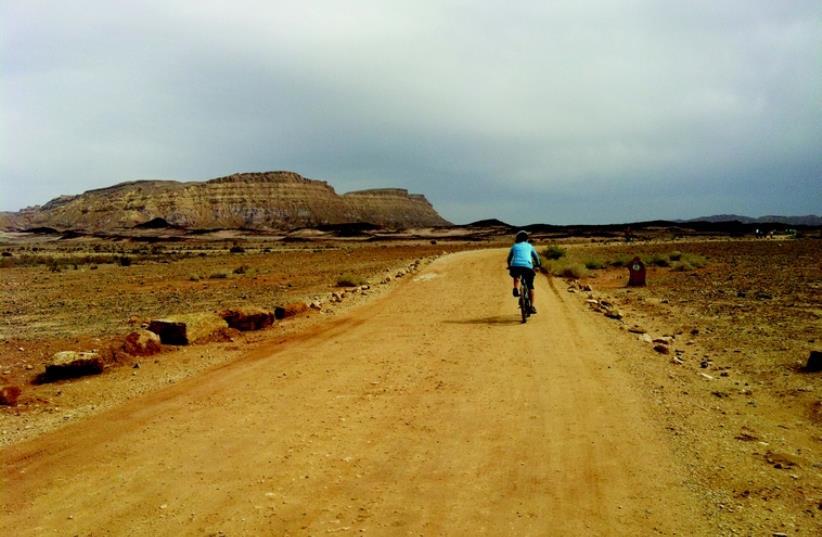 Mountain bike à Mitzpe Ramon (photo credit: LAURA KELLY)