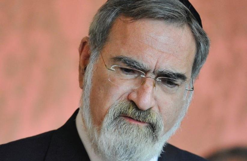 Rabbi Jonathan Sacks (photo credit: REUTERS)