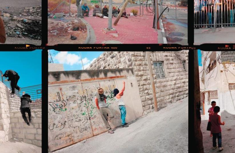 Gilles Peress – contact sheet, Palestinian Jerusalem, 2013. (photo credit: Courtesy)