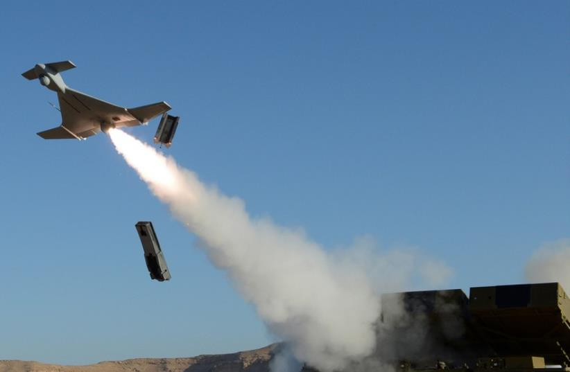 IAI's HAROP Loitering Munitions (photo credit: COURTESY IAI)