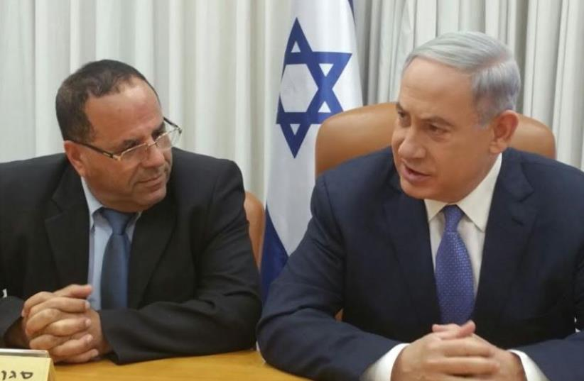 Benjamin Netnayahu and Ayoub Kara. (photo credit: Courtesy)