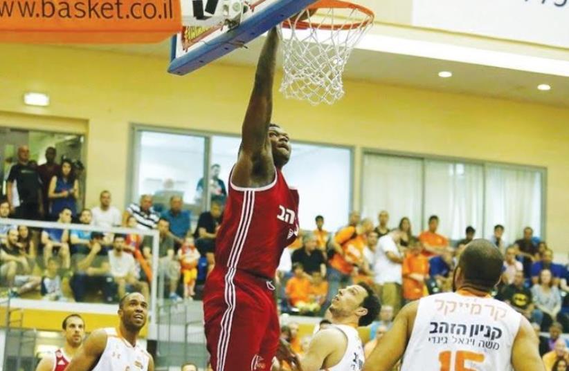 Hapoel Jerusalem forward Dion Thompson (photo credit: ALEN SHIVER/BSL)