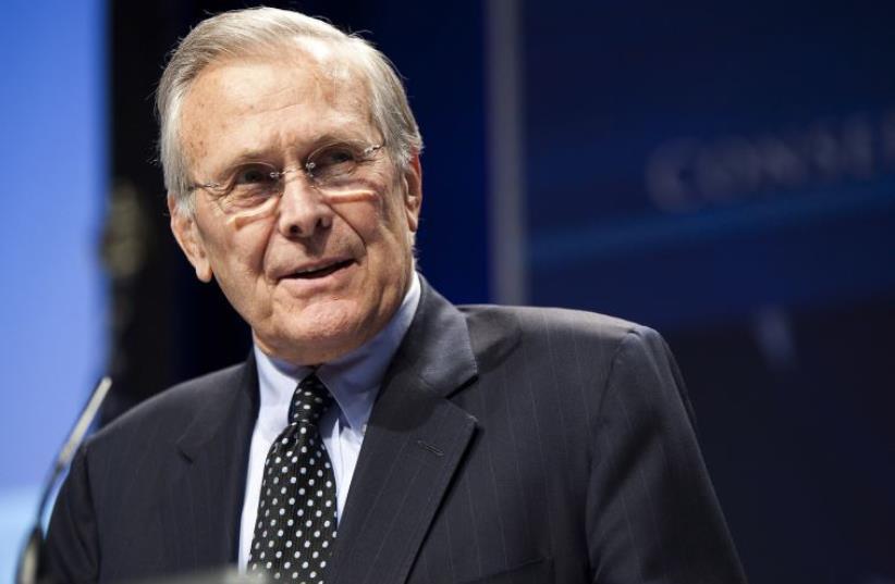 Former secretary of defense Donald Rumsfeld (photo credit: REUTERS)