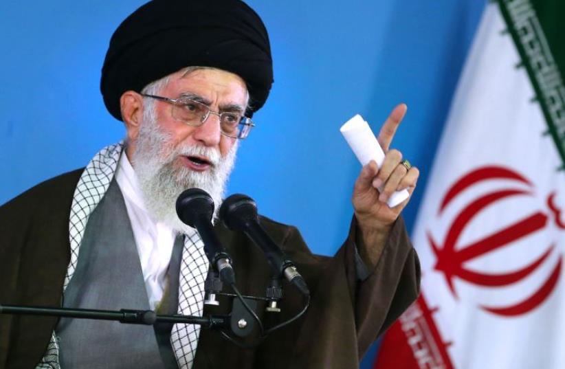 Iran's supreme leader, Ayatollah Ali Khamenei (photo credit: AFP PHOTO)