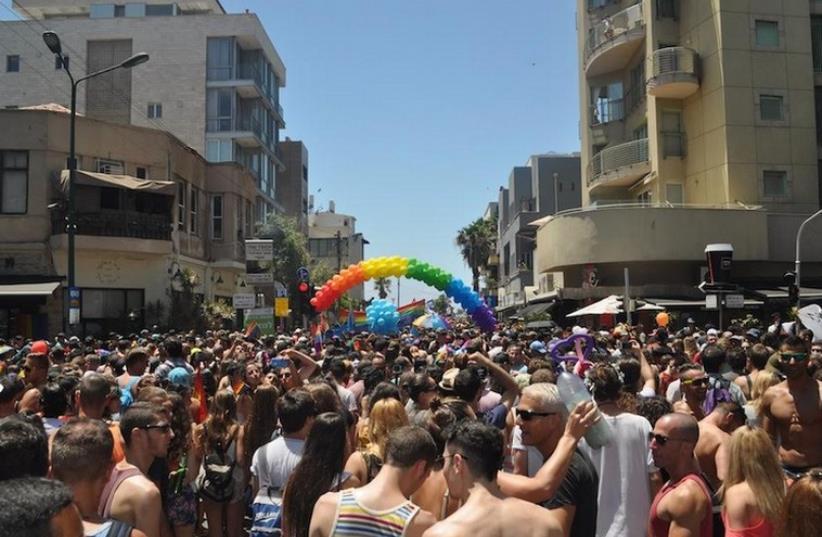 The 17th annual Tel Aviv Pride Parade, June 12, 2015 (photo credit: JULIE STEIGERWALD)