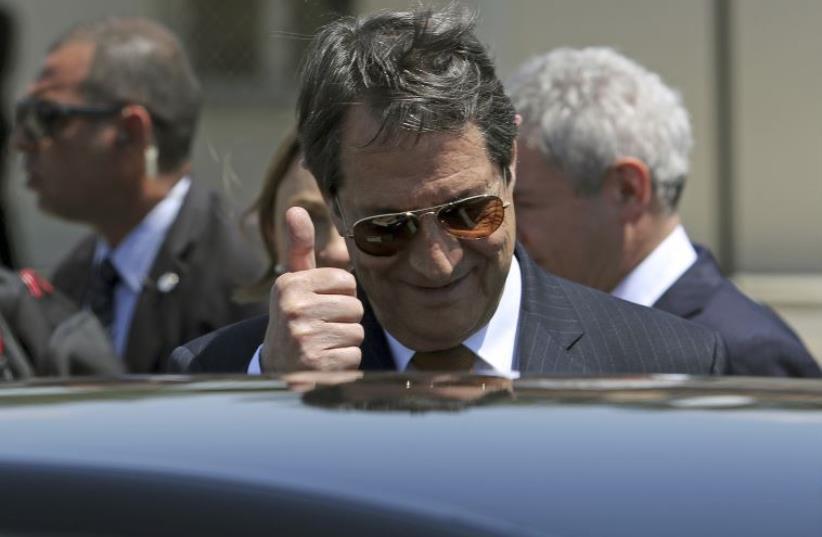 Cypriot President Nicos Anastasiades (photo credit: REUTERS)