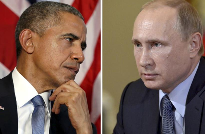 Obama and Putin (photo credit: REUTERS,JPOST STAFF)