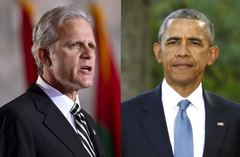 Michael Oren and Barack Obama (photo credit: REUTERS,JPOST STAFF)