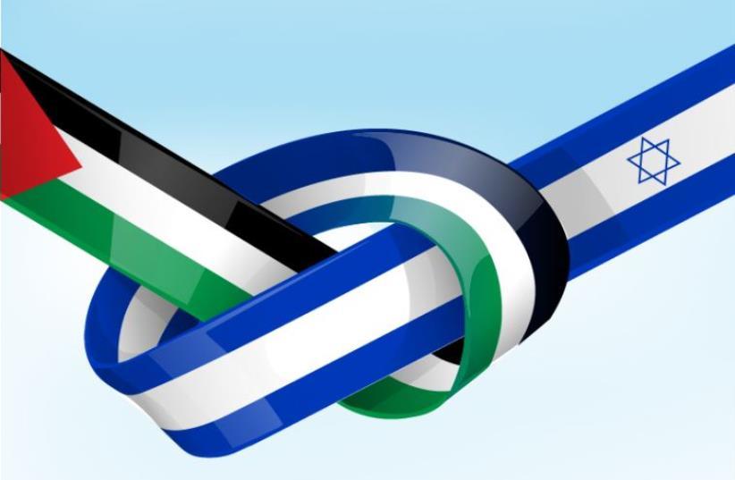 Israel and Palestinian flags (photo credit: INGIMAGE)