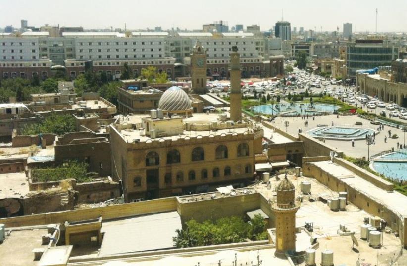 The city center of Erbil, capital of Iraqi-Kurdistan. (photo credit: LAURA KELLY)