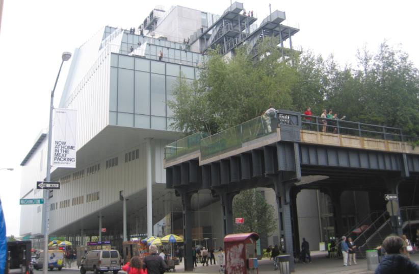 THE WHITNEY MUSEUM and the High Line in downtown Manhattan. (photo credit: BEN G. FRANK)