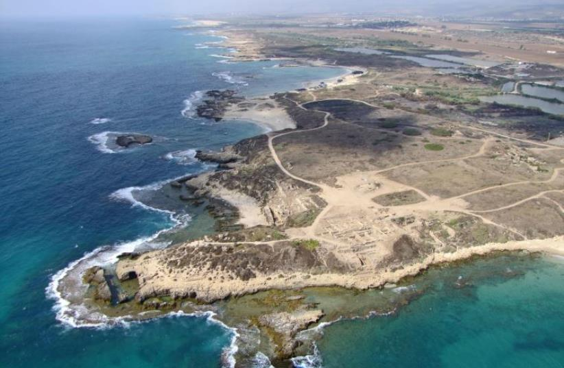 Tel Dor and the Carmel coast. (photo credit: SKYVIEW LTD)