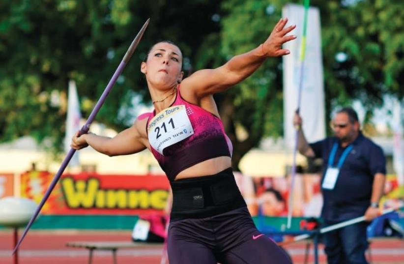 Israeli javelin thrower Margaryta Dorozhon (photo credit: TIBOR JAGER)