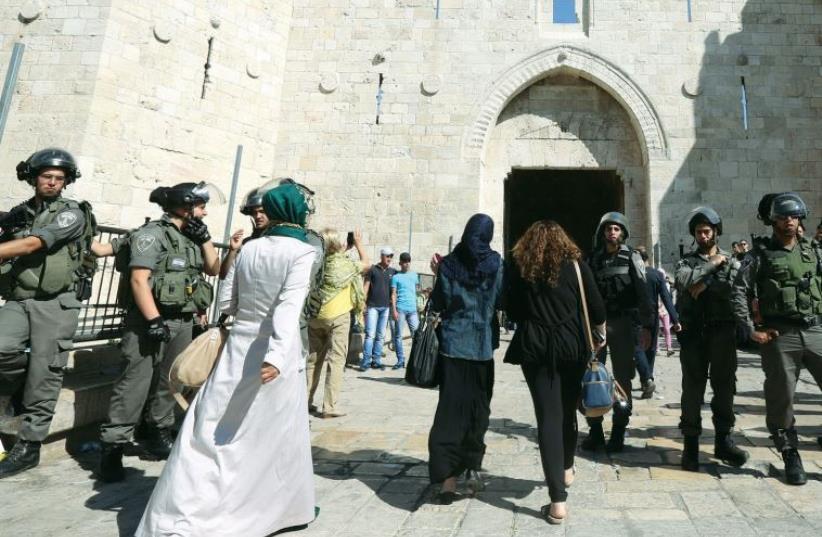 PALESTINIAN WOMEN visit Jerusalem on the eve of Ramadan (photo credit: MARC ISRAEL SELLEM)