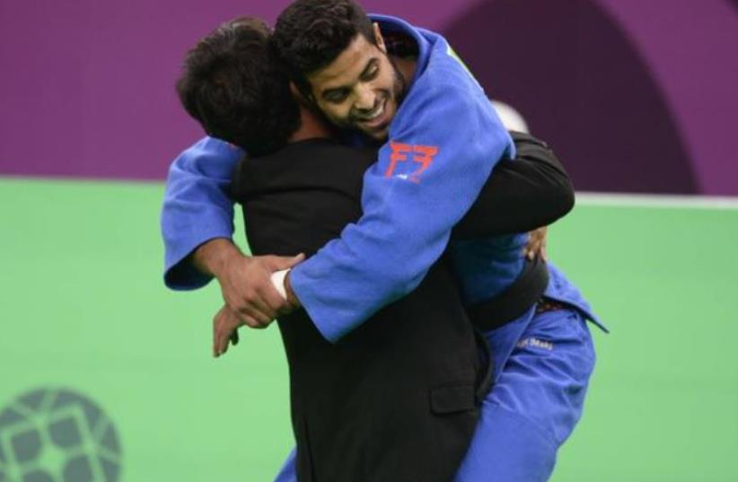Israeli judoka Sagi Muki wins the gold medal in Baku (photo credit: OCI)