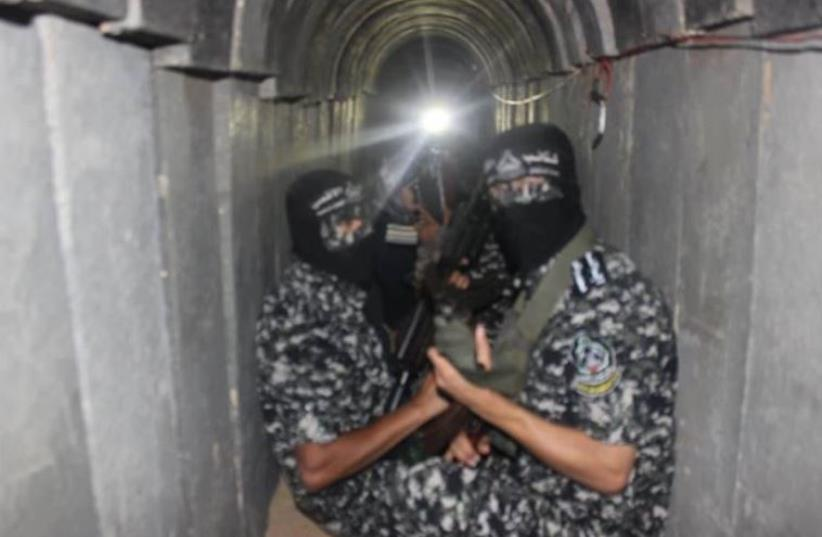 Hamas shows new tunnels built in Gaza (photo credit: ARAB MEDIA)