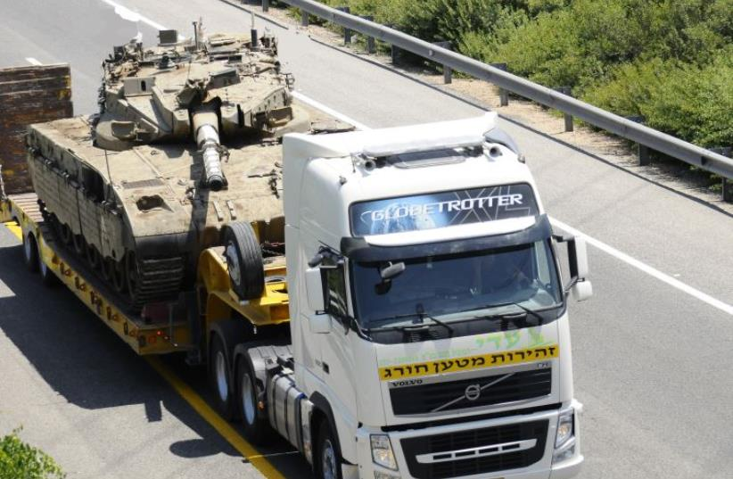 IDF's Transportation Center has plans to keep military supplies flowing even under missile attack. (photo credit: IDF SPOKESMAN'S UNIT)