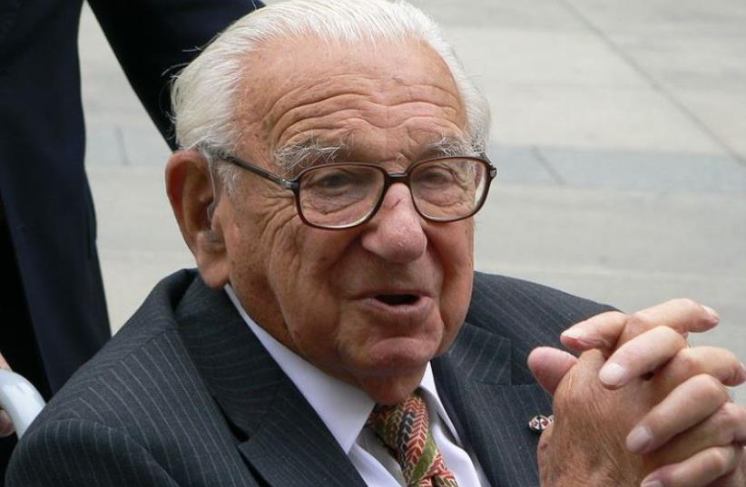 Sir Nicholas Winton in Prague (photo credit: Wikimedia Commons)