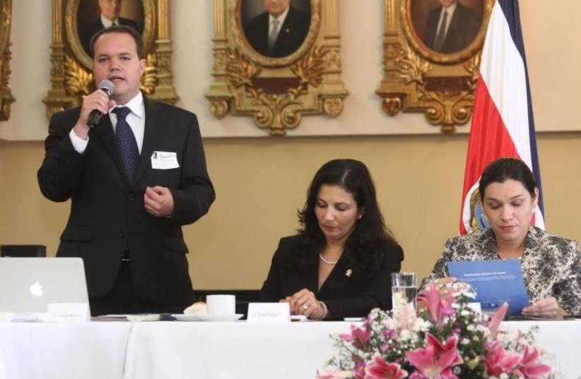 The launch of the Israel Allies Caucus in the parliament of Costa Rica (photo credit: ISRAEL ALLIES FOUNDATION)