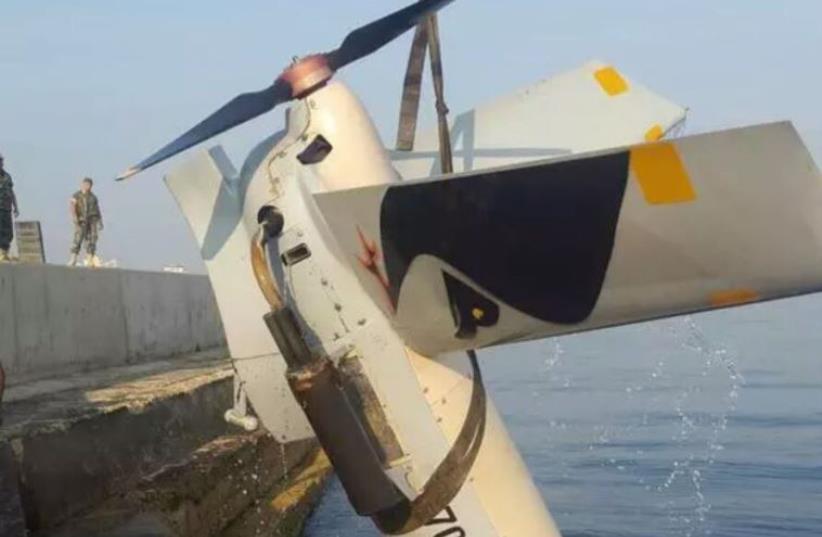 Israeli drone crashes near port of Tripoli (photo credit: LEBANESE MEDIA)