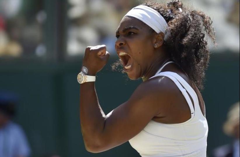 Serena Williams, July 11, 2015, Wimbledon (photo credit: REUTERS)