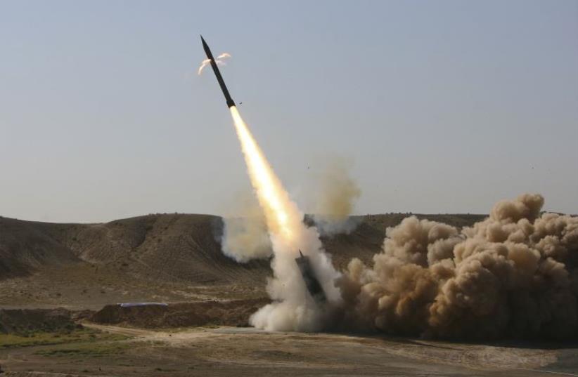 Iranian Zelzal missile launch (photo credit: REUTERS)