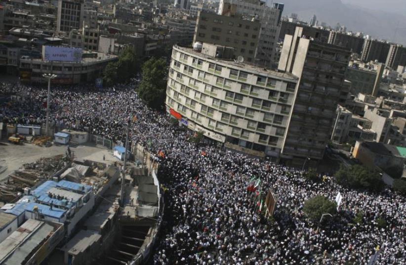 Aerial view of Tehran (photo credit: REUTERS)
