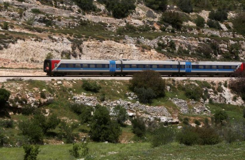 Israeli train (photo credit: MARC ISRAEL SELLEM/THE JERUSALEM POST)