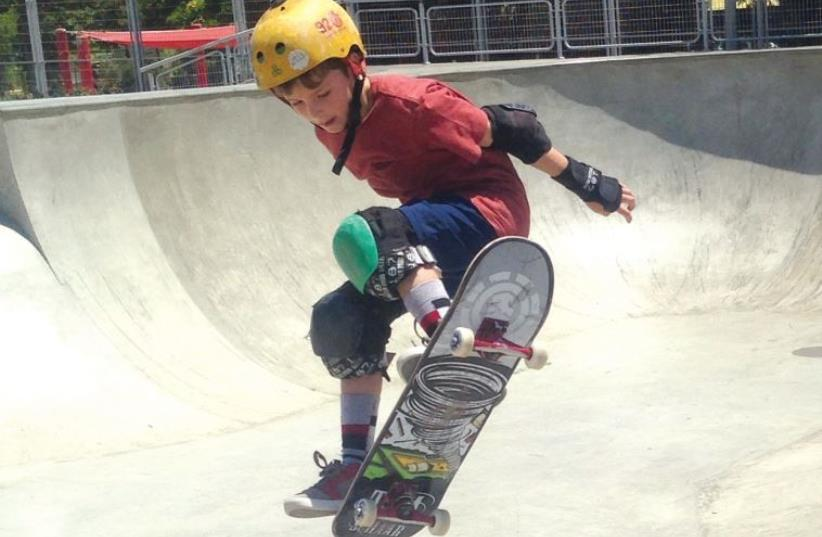 Will Glettner and his brother have been skateboarding since age three. (photo credit: EVA GLETTNER)
