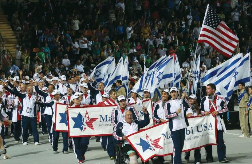 Opening of the Maccabiah Games at Teddy Stadium in Jerusalem In 2013. (photo credit: MARC ISRAEL SELLEM/THE JERUSALEM POST)