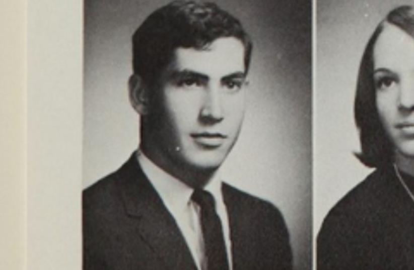 Benjamin Netanyahu's high school yearbook photo (photo credit: CHELTENHAM HIGH SCHOOL YEARBOOK)