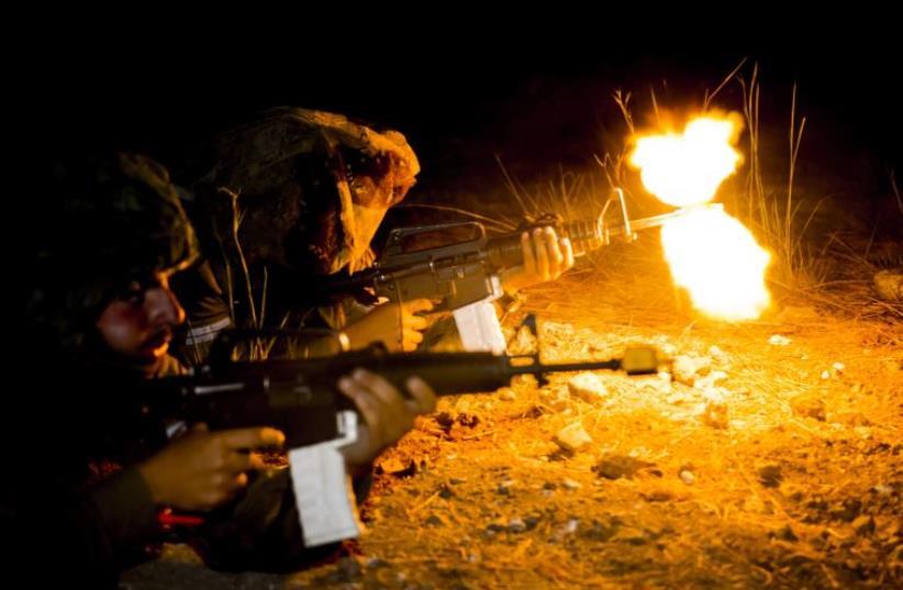 IDF combat troops take part in intense drills (photo credit: IDF SPOKESPERSON'S UNIT)