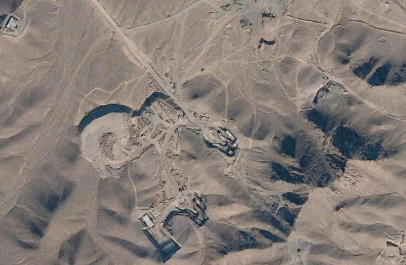 A SATELLITE view of Iran's Fordow nuclear plant. (photo credit: GOOGLE)