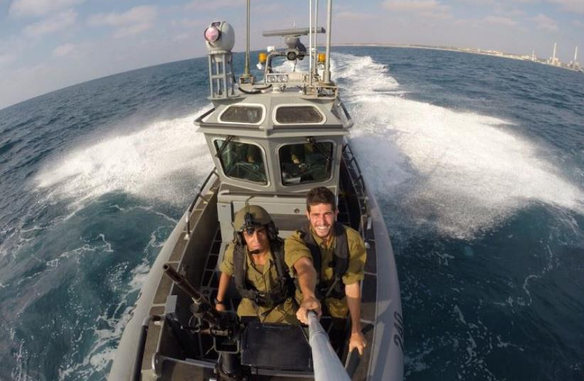 "Navy soldiers from the ""Snapir"" Unit train for any encounter on the high seas (photo credit: IDF SPOKESPERSON'S UNIT)"