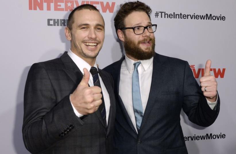 James Franco and Seth Rogen (photo credit: REUTERS)