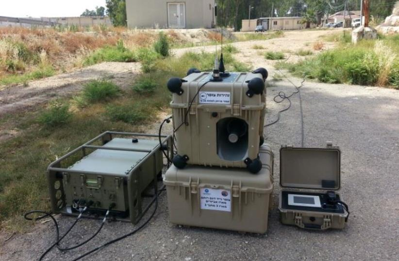The Rotem Siren System (photo credit: IDF SPOKESMAN'S UNIT)