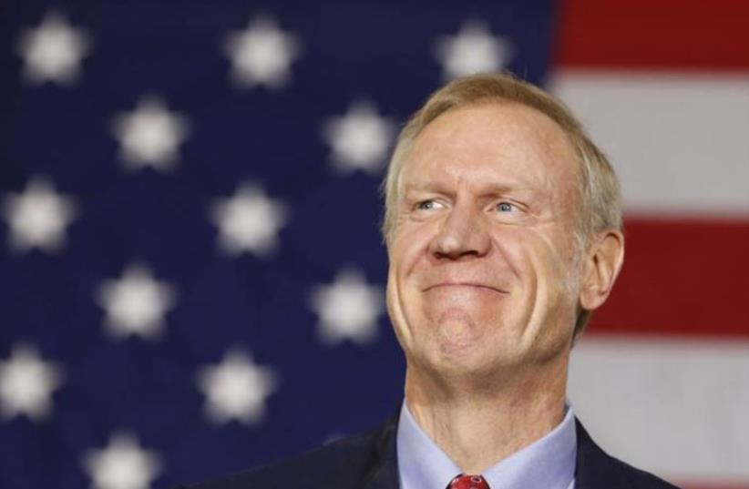 Bruce Rauner, Governor of Illinois. (photo credit: REUTERS)