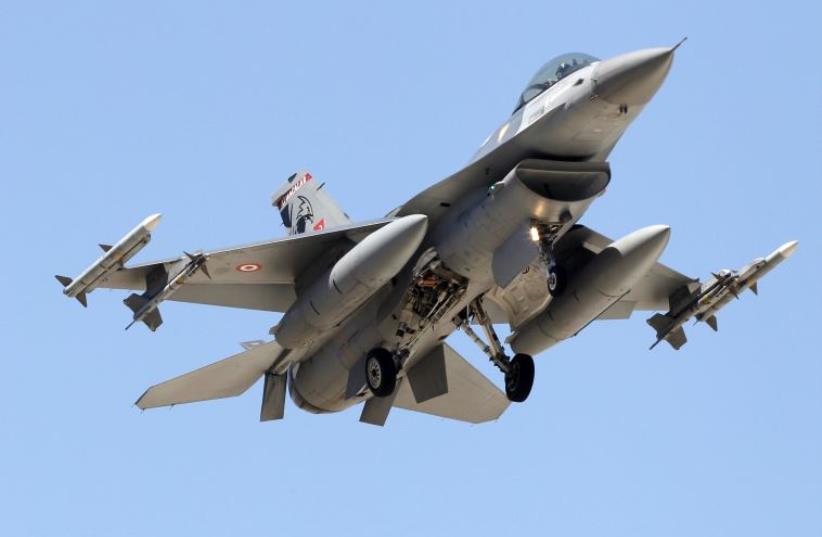 Turkish F-16 fighter jet (photo credit: REUTERS)